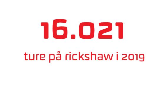 16.021 ture på rickshaw i 2019